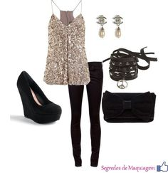 Great New Year's Eve outfit. Sparkle and shine:) Motivation to lose weight so I can look great in an outfit like this! New Years Outfit, New Years Eve Outfits, Nye Outfits, Fashion Outfits, Womens Fashion, Style Fashion, Looks Chic, Going Out Outfits, Passion For Fashion