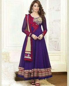 Designer Anarkali Suit - New Arrival at www.ethnicsplace.com
