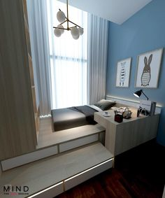 Bedroom Setup, Small Room Bedroom, Home Decor Bedroom, Home Design Plans, Home Office Design, Home Interior Design, Platform Bedroom, Small Bedroom Designs, Room Planning