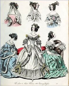 The World of Fashion and Continental Feuilletons 1838 Plate 6 by CharmaineZoe, via Flickr