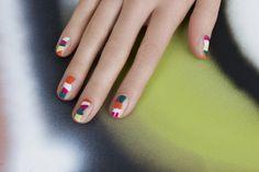 Multicolored Stripe Nails by JINsoon | Sephora Beauty Board #Sephora #nailart