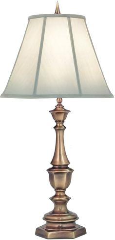0 00010933h Genuine Stiffel 3 Way Table Lamp Antique