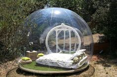 'Bubble Bed': You Can Legitamtely Sleep Under The Stars In This Clear Bubble Tent