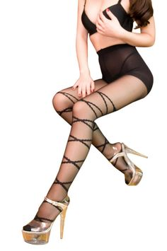 A great gift for you to surprise your special someone!!! It'll Just Act like a second skin protecting you carefully, that is nothing but Blancho SE-2021 Sexy Fashion Cross & Bow Knot Pattern Stocking Pantyhose - Black – Medium.