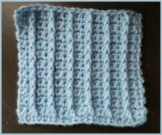 Single Crochet Raised Rib Stitch ~ Heather