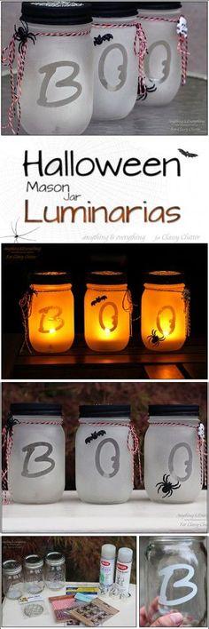Halloween Mason Jar Luminarias (via Bloglovin.com )