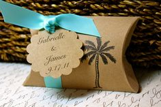 Palm Tree Pillow Boxes    Set of 10   You by JacquelynVaccaro, $15.00