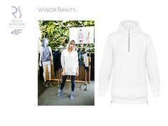 Daj się zainspirować! Biała bluza z kapturem z limitowanej kolekcji RSx4F jest jednym z ulubionych projektów Ranity.  Już wkrótce może być również Twoja!