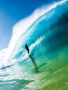 Ryan Callinan calmly #surfing an amazing tube. Photo: duncan macfarlen #Wave #Aqua #Blue