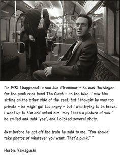 Joe Strummer on the tube