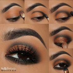 Makeup Eye Looks, Eye Makeup Tips, Smokey Eye Makeup, Cute Makeup, Skin Makeup, Eyeshadow Makeup, Motives Makeup, Eye Makeup Designs, Creative Eye Makeup