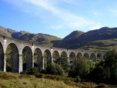 Glenfinnan - this is the bridge that you see the Hogwarts Express travel over