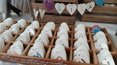 Hand made ceramic bunting from Broadlands Pottery