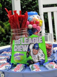 baseball party decorations | ... Ruth's Boston Baked Beans and Big Chew at a baseball game, right