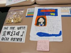 """Have the parents walk around the classroom and tryto guess where their child's desk is. Prior to the parents coming, have students fill out a """"GUESS WHO SITS HERE?"""" paper. Have students write some clues about themselves and drew their portrait. The parents have to read the riddles and find their child's desk."""