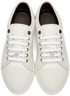 c84e755156 Lanvin - White Leather   Suede Sneakers Suede Sneakers
