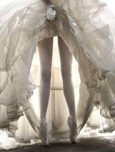 ballet bride on pointe ---
