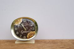 Vintage Big Ben Westclox Alarm Clock Hand Painted Retro Alarm Clock Cottage Chic Decor Big Ben Vintage Alarm Clock Life Is Good Spring Decor