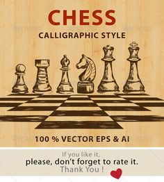 Chess Calligraphic Style