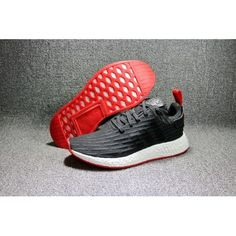 6897ee00d 2017 Adidas NMD R2 Primeknit Core Black Core Red For Men and Women Sneakers