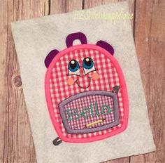 Backpack Applique - 3 Sizes! | What's New | Machine Embroidery Designs | SWAKembroidery.com EZ Stitches Applique