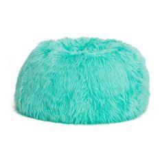 Deep Pool Fur-rific Beanbag ❤ liked on Polyvore