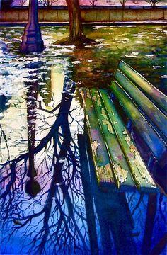 Past Reflections - watercolor by ©Amanda Kraenzle (supertotallyfresh) via deviantART