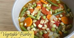 Easy, veggie-packed barley soup! So cozy and full of nutrients