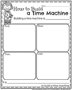 January Writing Prompts - How to Build a Time Machine Informative Writing Prompt.