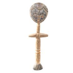 Carved Wood African Asante Style Fertility Figure 74a9c46ca2e3