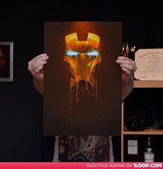 """Gilded"" Iron Man painting"