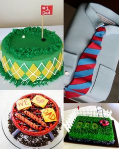 Father's Day cakes / Camisa, golf,parrilla