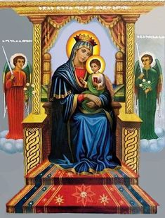 Jesus Mother, Blessed Mother Mary, Blessed Virgin Mary, Religious Paintings, Religious Art, Ethiopian People, Holly Pictures, Cross Wallpaper, Church Icon