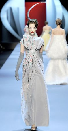 gray dress from the Christian Dior Haute Couture Spring Summer 2011 show