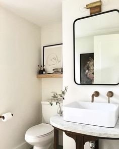 "2,109 Likes, 40 Comments - Annabode + Co. (@annabode) on Instagram: ""Our little basement bathroom is made oh so better by this @mollyshearyan light above the mirror -…"""
