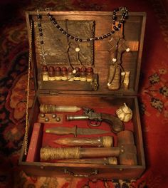 century vampire kit Minus the firearm, because I'm not handing a group of fantasy-medieval players a firearm. Kit, Real Vampires, Steampunk, Vampire Hunter, Werewolf, Occult, 19th Century, Creepy, Medieval