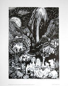 Affisch Mumin fyrverkerier