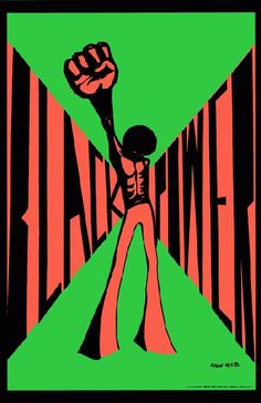 High quality reprinted art print poster titled Black Power from 11 x 17 high quality reproduction on card stock. Protest Posters, Web Design, Black Panther Party, Poster Prints, Art Prints, African American History, Black Power, African Art, African Paintings