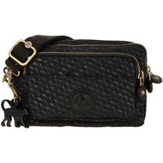 Kipling Cross-body Bag (325 BRL) ❤ liked on Polyvore featuring bags, handbags, shoulder bags, black, mini cross body purse, black cross body purse, crossbody handbags, black crossbody purse and mini crossbody