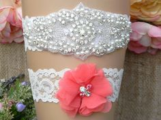 Check out this item in my Etsy shop https://www.etsy.com/listing/274146646/wedding-garter-wedding-garter-set-coral