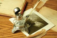 Emily Dickinson's inkwell & quill pen--must have!
