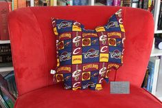State of Ohio Pillow in Cleveland Cavaliers Cotton by LMNOPieces