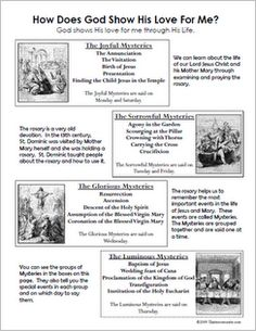 Worksheets Parts Of The Rosary Worksheets saints learning activities and catholic on pinterest printable mysteries of the rosary