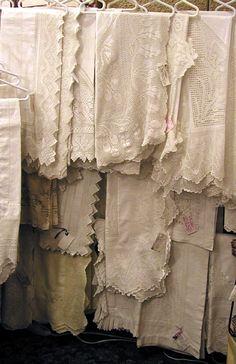 beautiful vintage linens