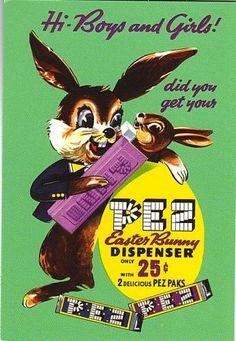 Vintage Easter PEZ Ad
