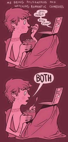 Hahahaha ME every single time. #PolyLove #Polyamorous #PolyLife ~PinDiv@~