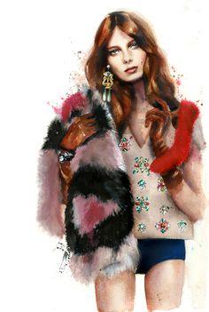 50 Beautiful Fashion Illustrations - Marcela Gutiérrez | Telva Spring Summer 2013 #fashion #illustration #springsummer2013