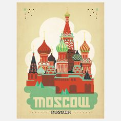 World Travel Moscow Print by  Shelby Roddeffer & Joel Anderson