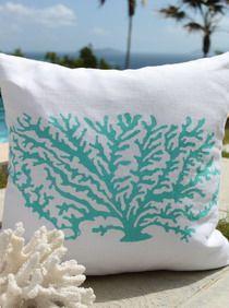 Stony Coral Beach Decor Pillow