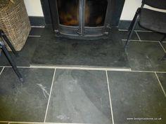 40mm Sill on 10mm Black Brazilian floor slate